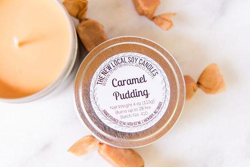 Caramel Pudding 4 oz Candle Tin