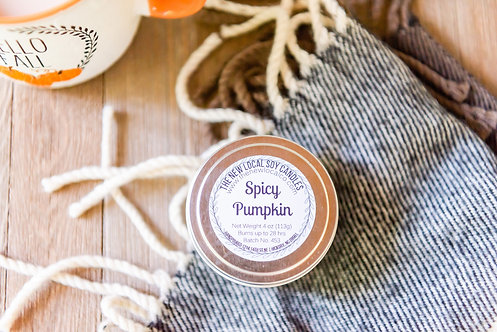 Spicy Pumpkin 4 oz Candle Tin