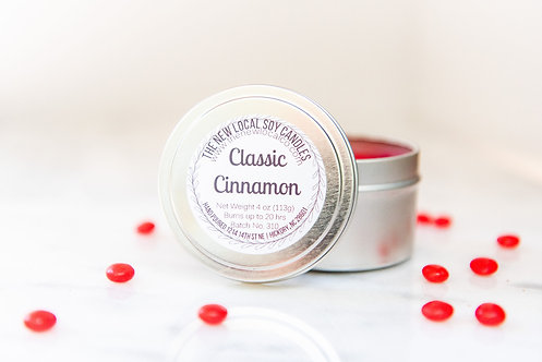 Classic Cinnamon 4 oz Candle Tin