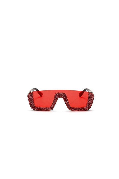 Red Dencia Billionaire crystal-embellished sunglasses Gold