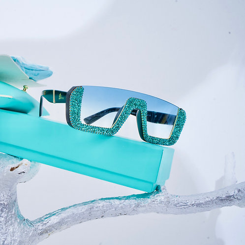 Aqua Dencia Billionaire crystal-embellished sunglasses