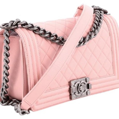 Boy Medium Lambskin Leather Light Pink Boy Bag