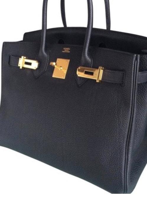 Black 30CM Hermes Birkin bag