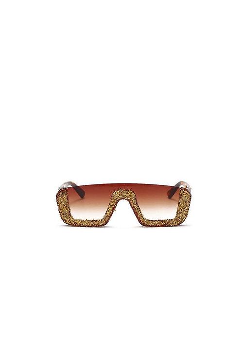 Gold Dencia Billionaire crystal-embellished sunglasses Gold