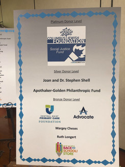 Platinum and Silver Level Donors 2019