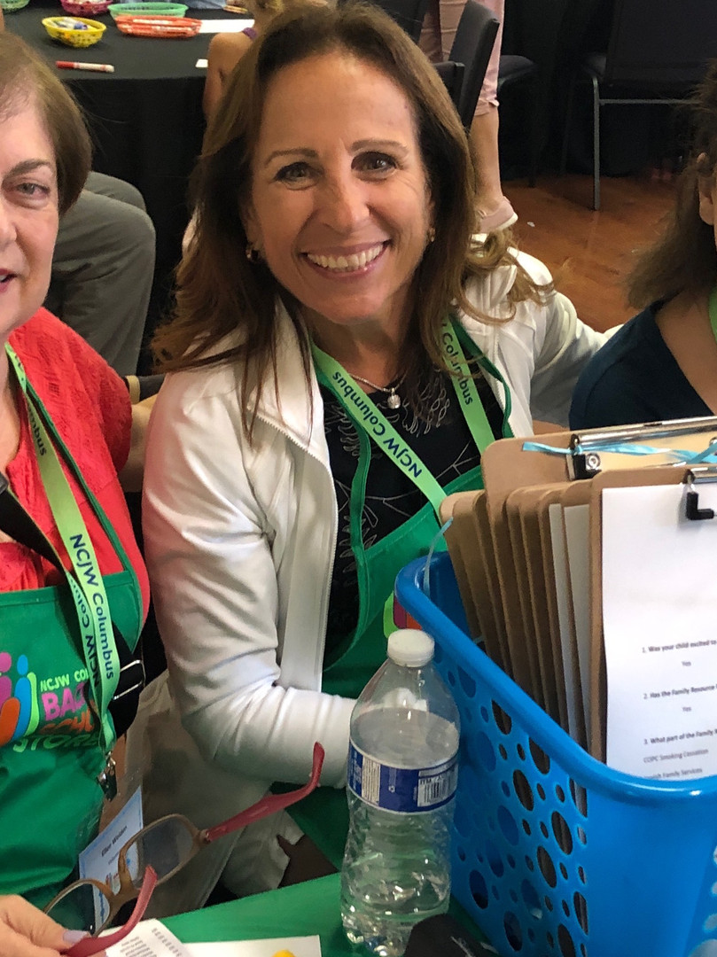 Volunteers in the reource room