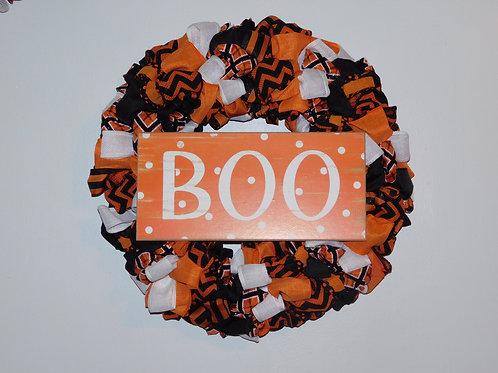 Hey Boo Halloween Wreath