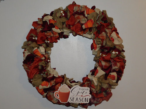 Pumpkin Spice Fall Wreath