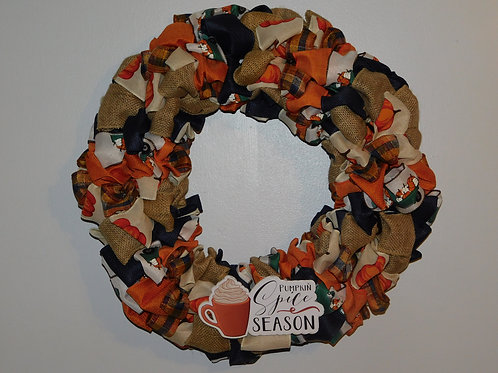 Pumpkin Spice Blue Wreath