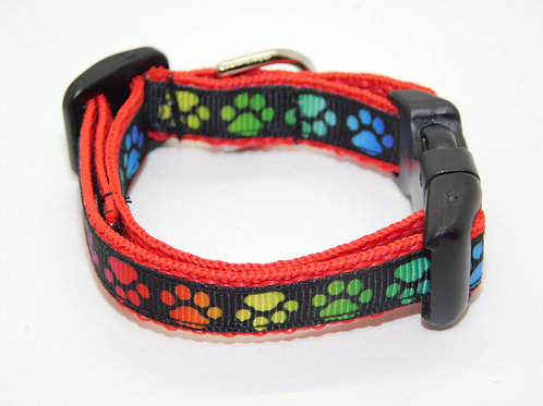Colorful Paw Prints Collar