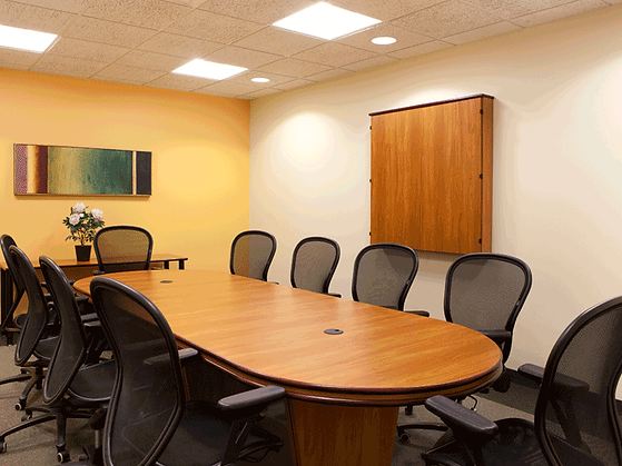 Photo of Work Central's meeting room in Westborough, MA