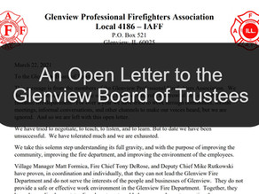 An Open Letter to the Glenview Board of Trustees