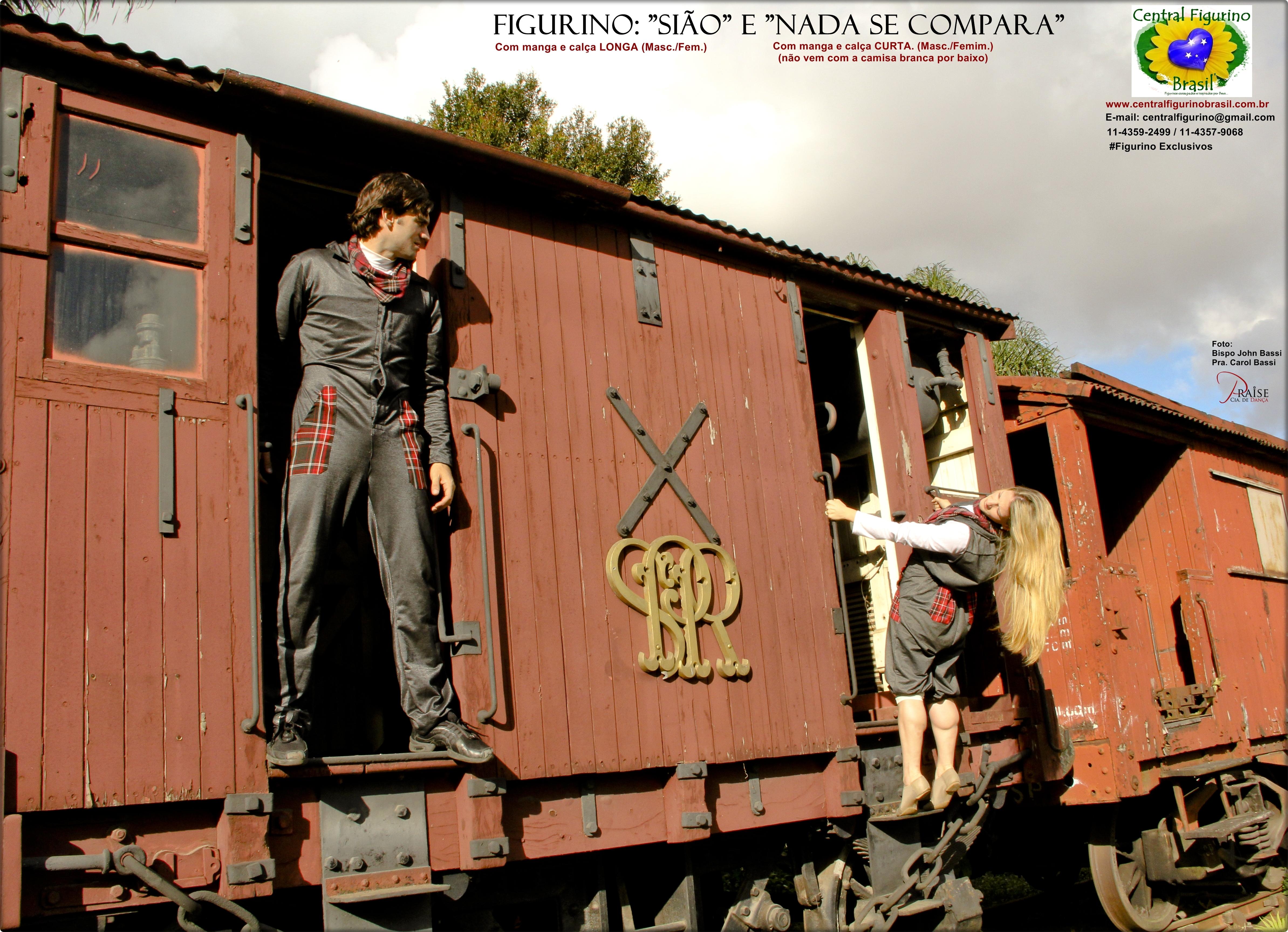 Figurino SIÃO e NADA SE COMPARA  -Central Figurno Brasil