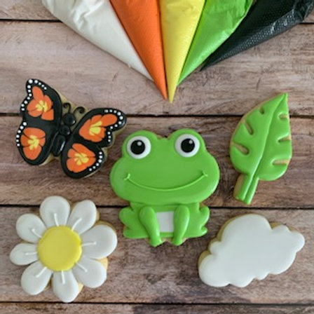 PRE-RECORDED Spring Theme - Beginners Cookie Decorating Class + Recipes