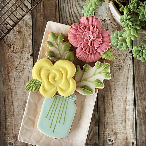 BUNDLE Royal Icing 101 and Basic Floral Cookies  - Online Class