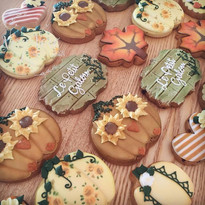 Fall-inspired cookie assortment. Which o
