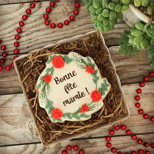 Gros biscuit «Bonne Fête Mamie»
