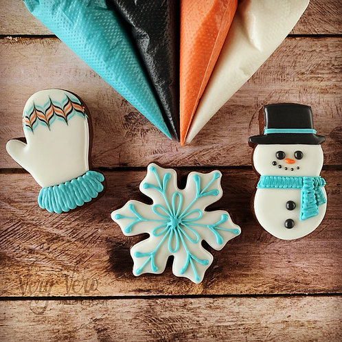 Let It Snow - LIVE Beginner Cookie Decorating  Class