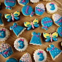 J'adore les mini biscuits décorés ! Ces