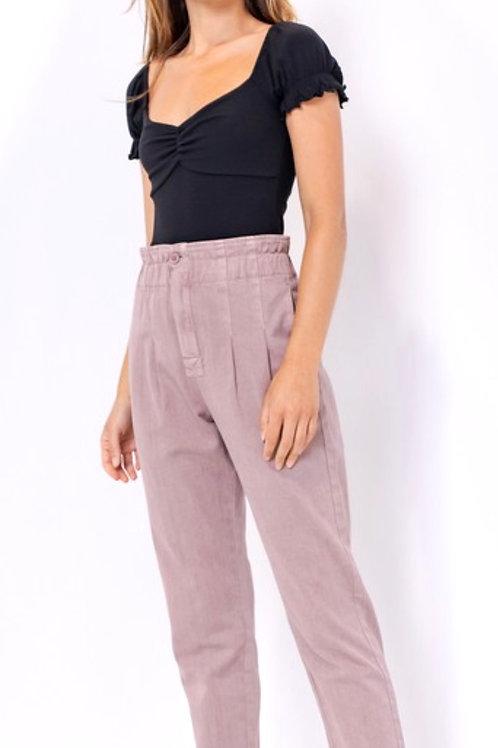Dusty Lilac Paper Bag Pants