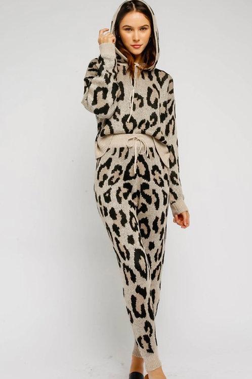 Leopard Print Jogger Set