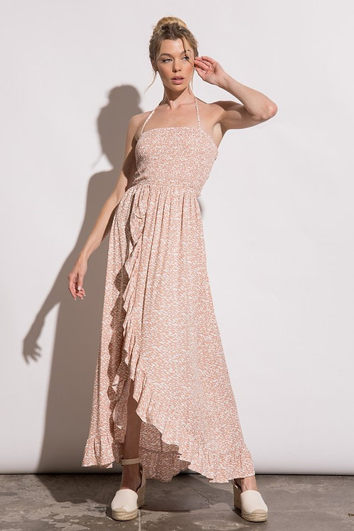 Savannah Print Maxi Dress