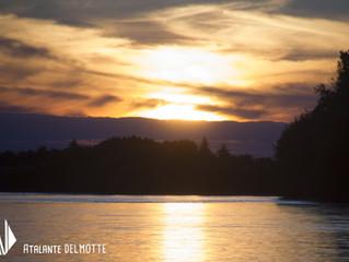 Soleil couchant sur la Loire