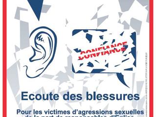 """Affiche et flyer """"Ecoute des Blessures"""""""