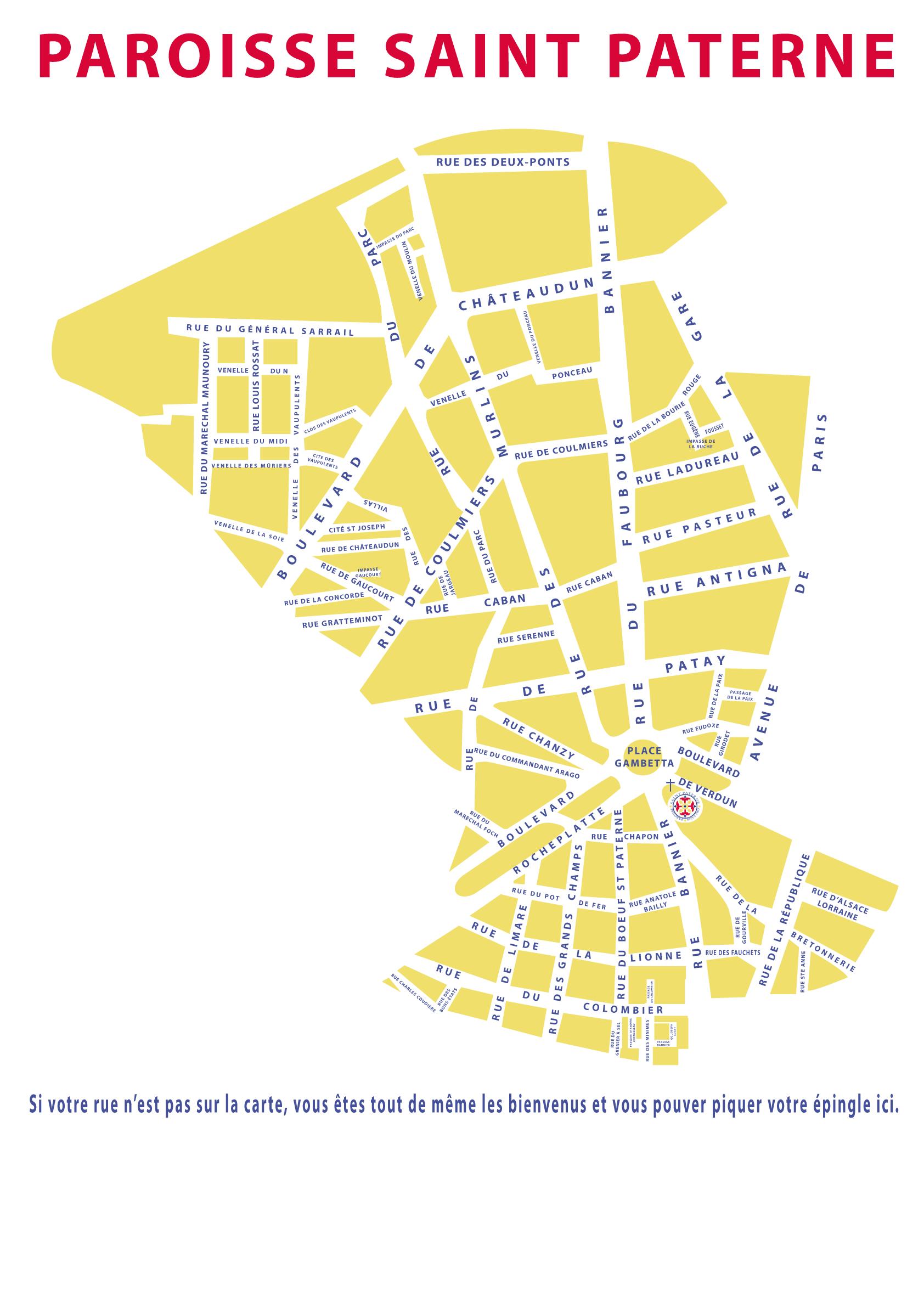 Carte Paroisse Saint Paterne