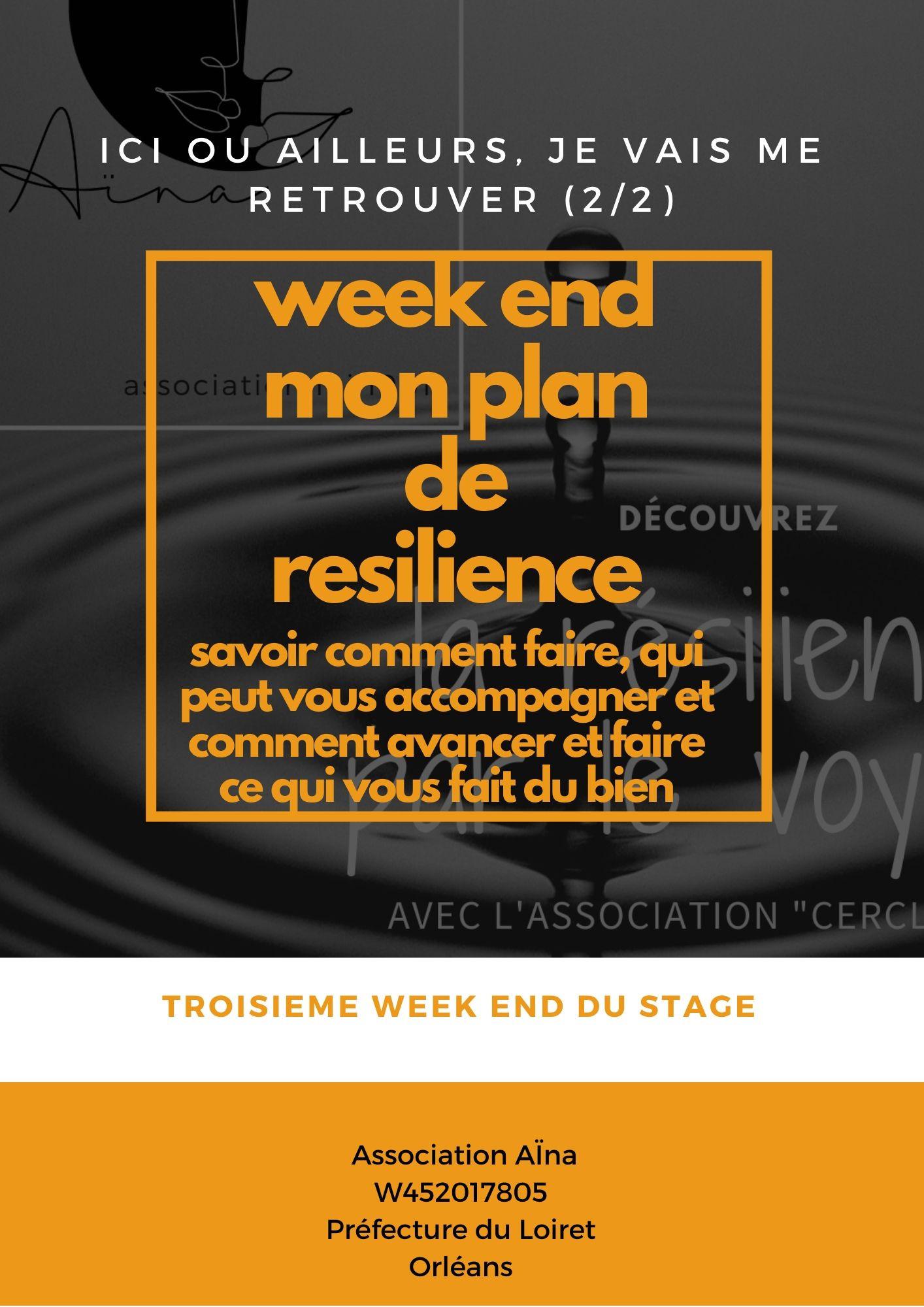 stage Mon plan de résilience