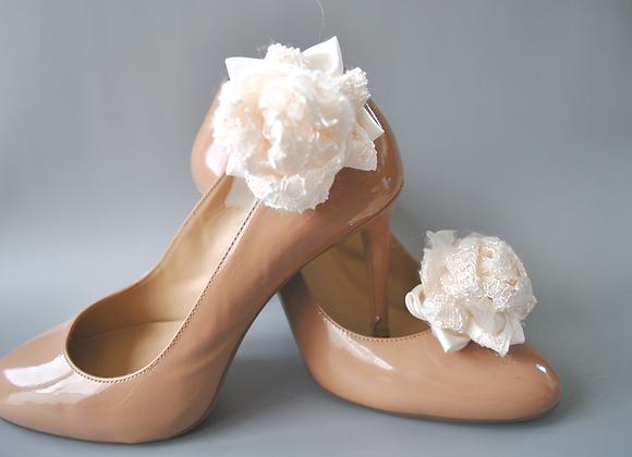 Clips chaussures boutons de fleurs