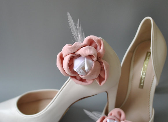 Clips chaussures roses