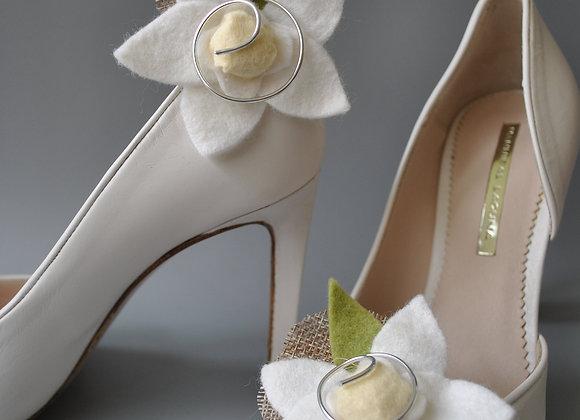 Clips chaussures Orchidées