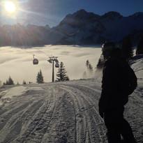Skifahren Oeschinensee