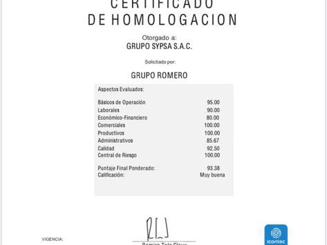 Homologación Grupo SYPSA