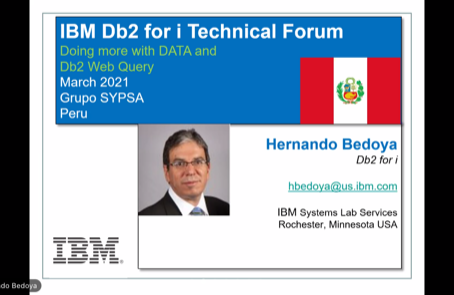 Foro Técnico Virtual DB2 2021, nuevamente un éxito gracias a ustedes!
