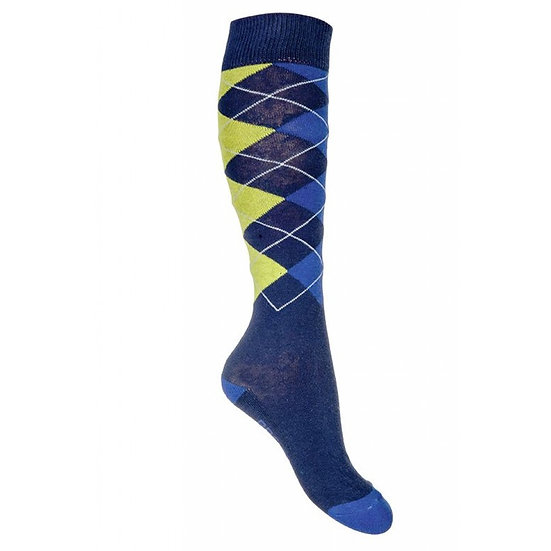 HKM Classico Socks Lemon Blue