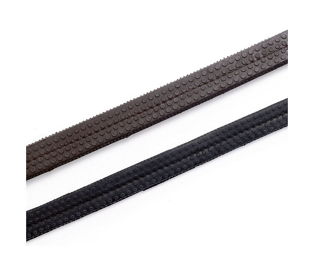 Hy Leather Rubber Grip Reins