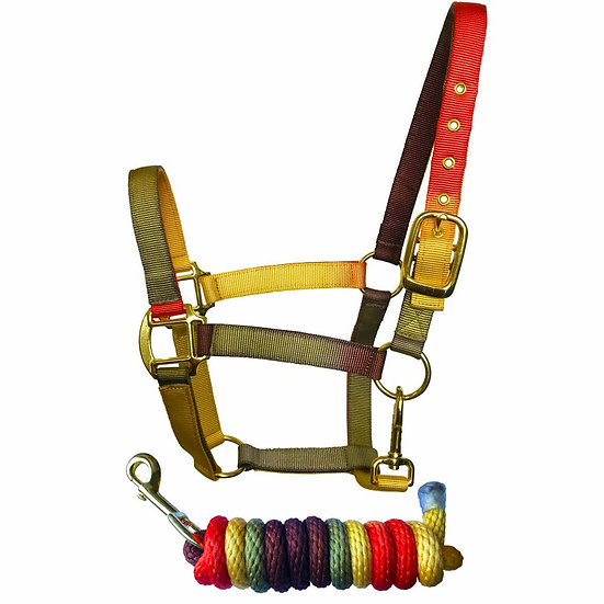 Sheldon Earth Tones Headcollar and Lead Rope Set