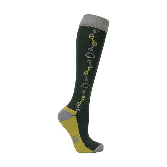 Hy Equestrian Elegant Stirrup and Bit Socks 3 pack (Adult 4-8)