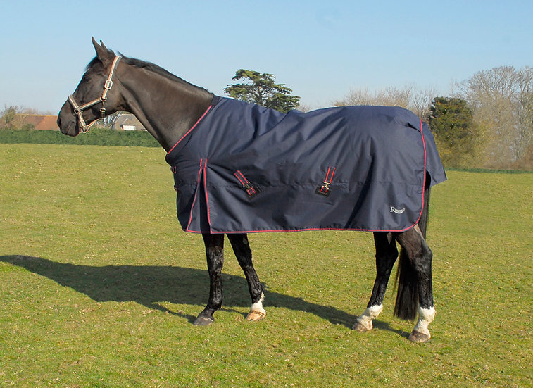 Rhinegold Thor 350g Turnout Rug NAVY/RED
