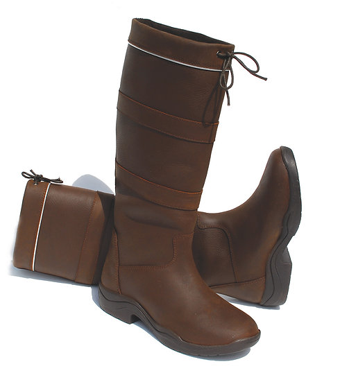 Rhinegold Elite Harlem Leather Waterproof Country Boot
