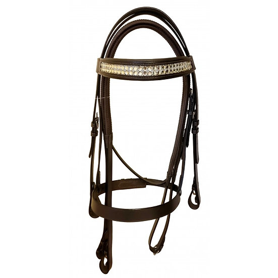 Classic Hunt Bridle with Padded Diamante Browband