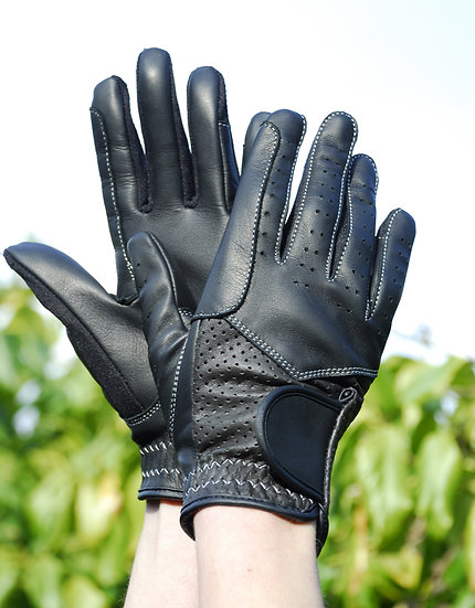 Rhinegold Leather Riding Gloves