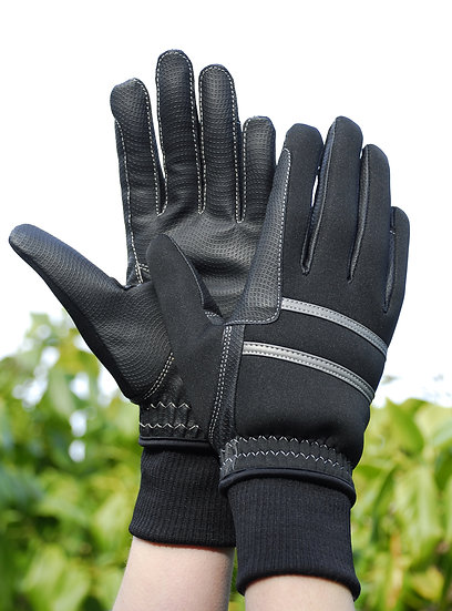 Rhinegold Thinualte WInter Riding Gloves Elasticated Cuffs