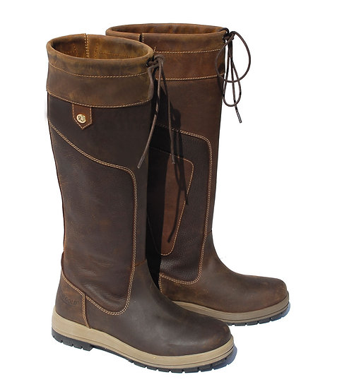 Rhinegold Vermont Leather Waterproof Country Boot