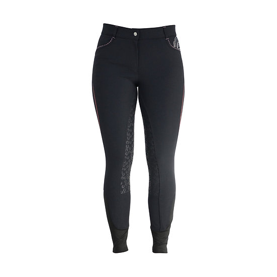 HyFASHION Eliza Ladies Breeches Charcoal/Rose Gold