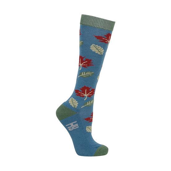 HyFASHION Falling Leaves Socks Pack of 3