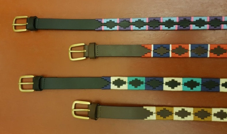 Elano Narrow Leather Polo Belts