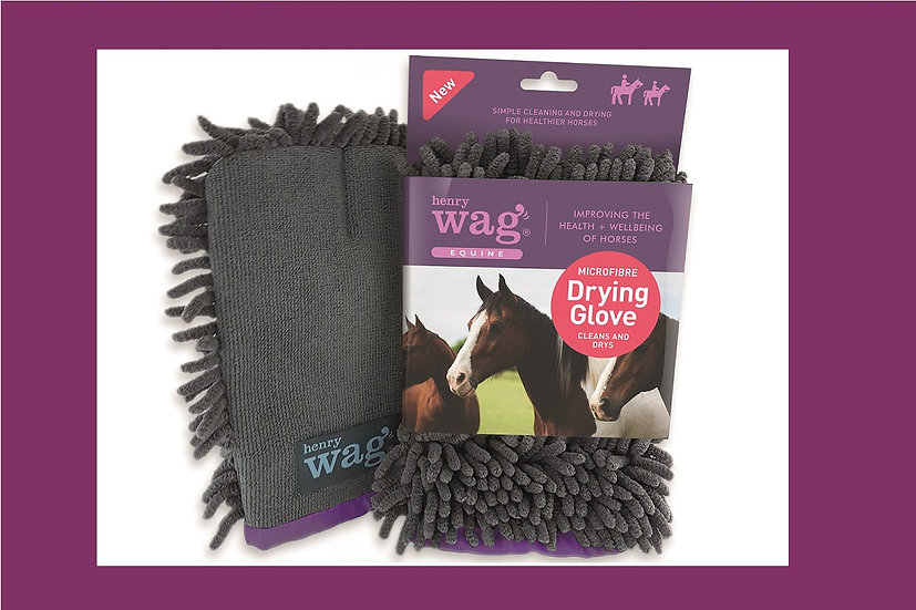Henry Wag Microfibre Drying/ Cleaning Glove  25 x 16 x 2cm